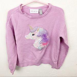 Children's Place l Purple Fluffy Unicorn Sweater